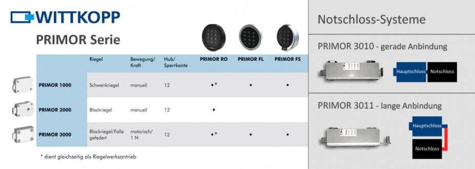 PRIMOR •  Elektronik mit u. ohne Notschloss