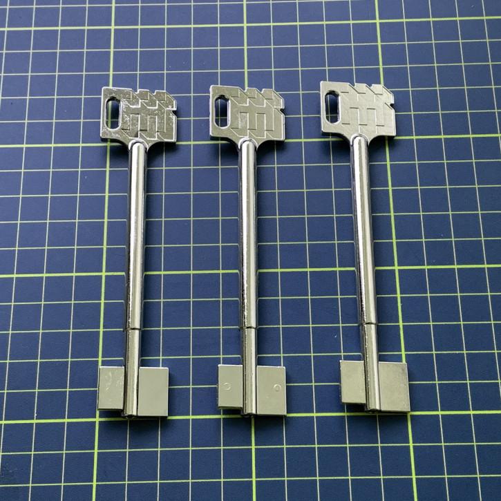 3x orig. Dormakaba Kaba Mauer Rohlinge 120 mm für  71111, 71113, 74041, 74043, 74046, 74047