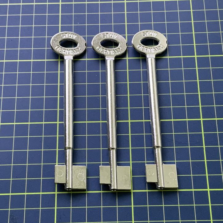 3x orig. STUV Rohlinge 120 mm für 4.19.92 Cablox Steinbach & Vollmann