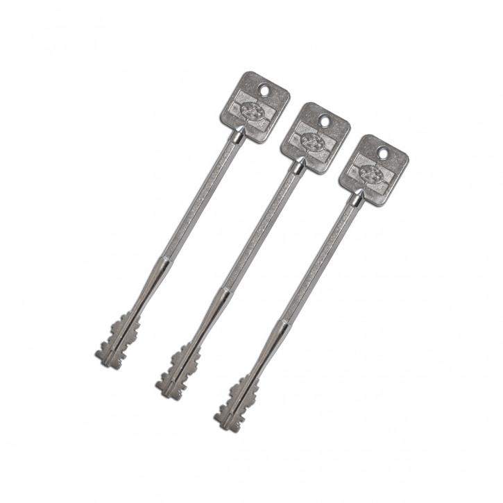 3x FAS Tresorschlüssel im Set 165mm lang für S&G Sargent & Greenleaf für 6860/6880/6890 Tresorschloss