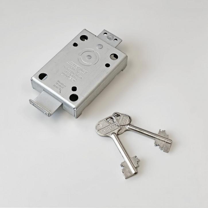 Cawi 2608-03 VdS 1 EN 1300 A Wandschrankschloss Carl Wittkopp - gewinkelter Riegel zum Anschweißen / 65 mm Schlüssel