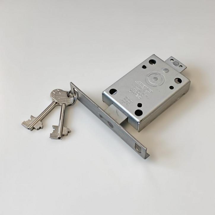 Cawi 2608-04 VdS 1 EN 1300 A Wandschrankschloss inkl. Schließleiste für Riegelbolzen / 65 mm Schlüssel