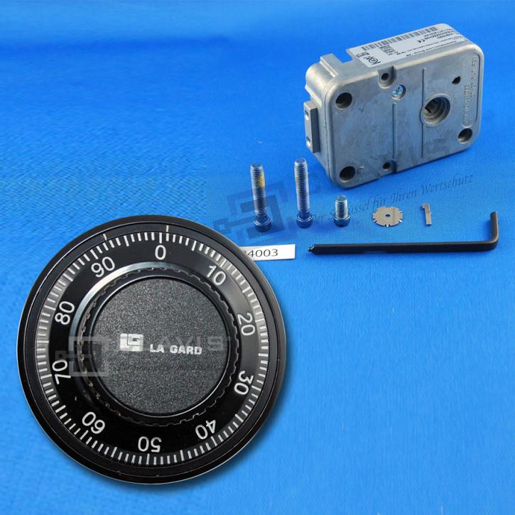 LA GARD 3390 + 1777 Drehknopf Umbauset mechanisches Zahlenschloss 3390SZN Klasse I EN 1300 A mechanisches Zahlenkombinationsschloss 3-Scheiben (Austausch LaGard 3330)