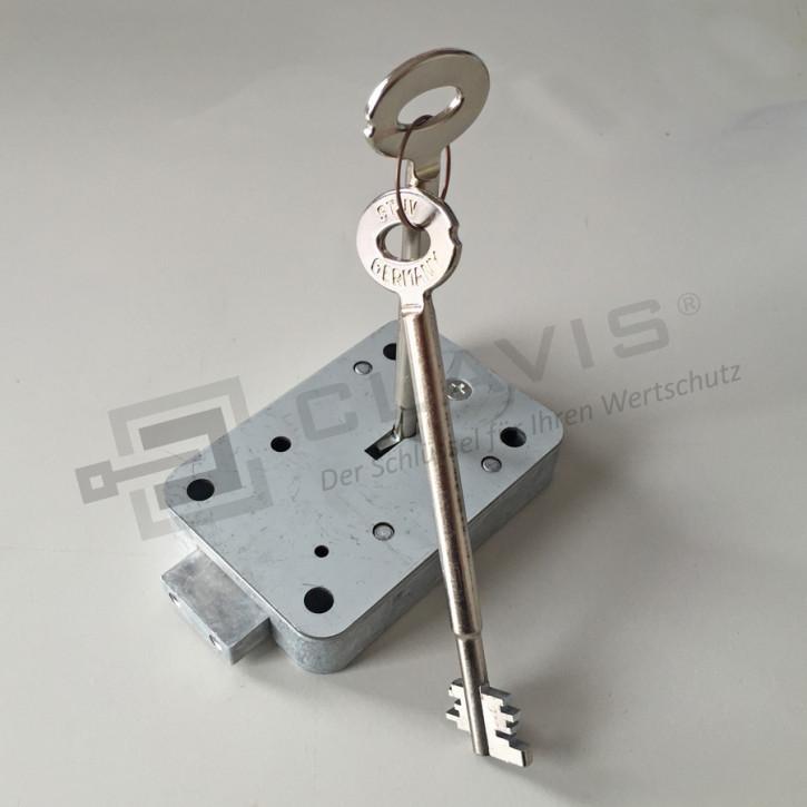 STUV 4.19.9267.3 - CABLOX Tresorschloss VDS Klasse I (1), 140mm Schlüssel