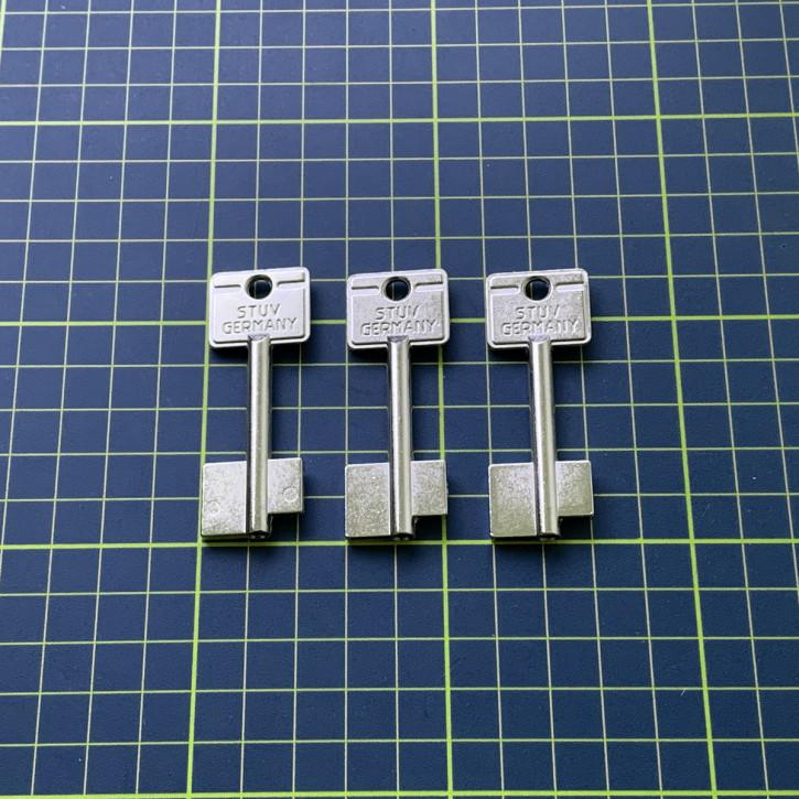 3x orig. STUV Rohlinge 60 mm für 4.19.92 Cablox Steinbach & Vollmann