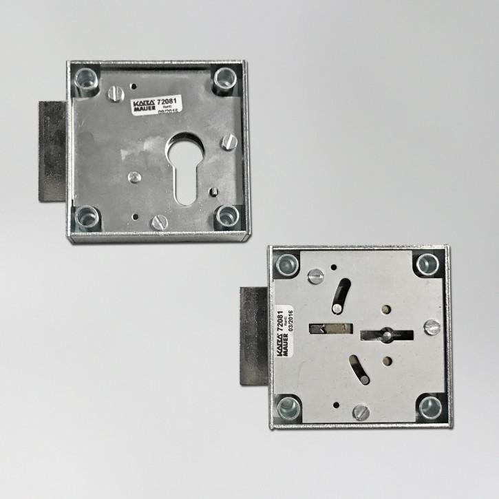 Kaba Mauer Tresorschloss 72081 Curator 80 für Vorbereitung f. Profilzylinder oder mit Doppelbartschlüssel