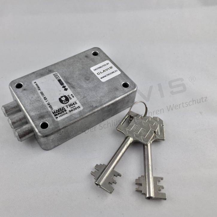 Kaba Mauer 73042 Tricontus A mit 2 Schlüsseln 65mm Zinkdruckguss