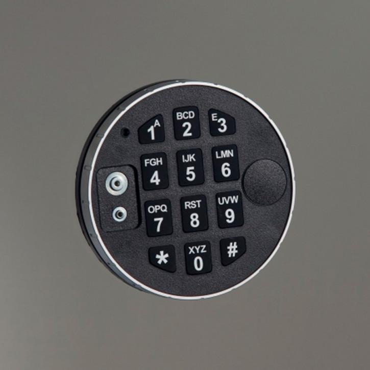 M-Locks Tastatur DELTA DE2010 Eingabeeinheit, Metall, drehbar Soft touch Tasten