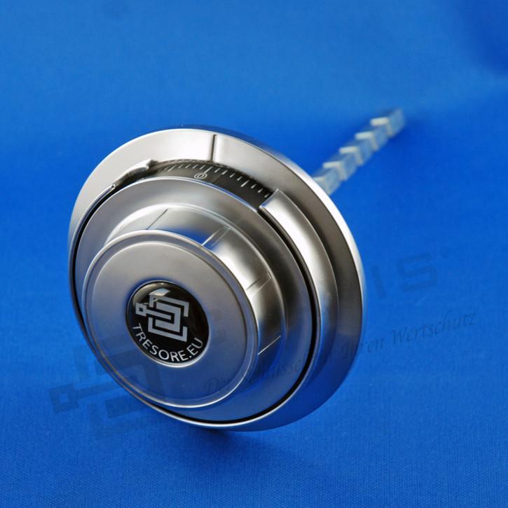 M-Locks Zahlenknopfgarnitur MD4060 silber, metall, einsichtgeschützt für Schloss ML6740 Zahlenkombinationsschloss ZK