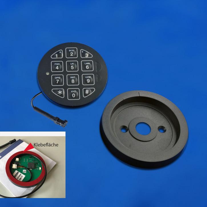 M-Locks Tastatur ALPHA ST4010 Eingabeeinheit, feststehend Folientastatur zum Einbkleben inkl. Basisring