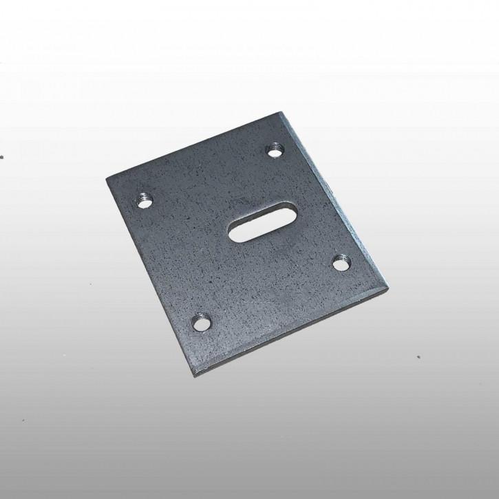 Wittkopp 1387 Montageplatte, Adapterplatte mit Gewinde / Anschraubpunkten inkl. Schlüsselführung
