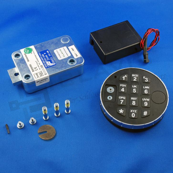 M-Locks Set2 Elektronikschloss MotorLock Motorschloss Tresorschloss EM3020/ EM3050 + DE2010 + ST6070 inkl. Dallas Leser