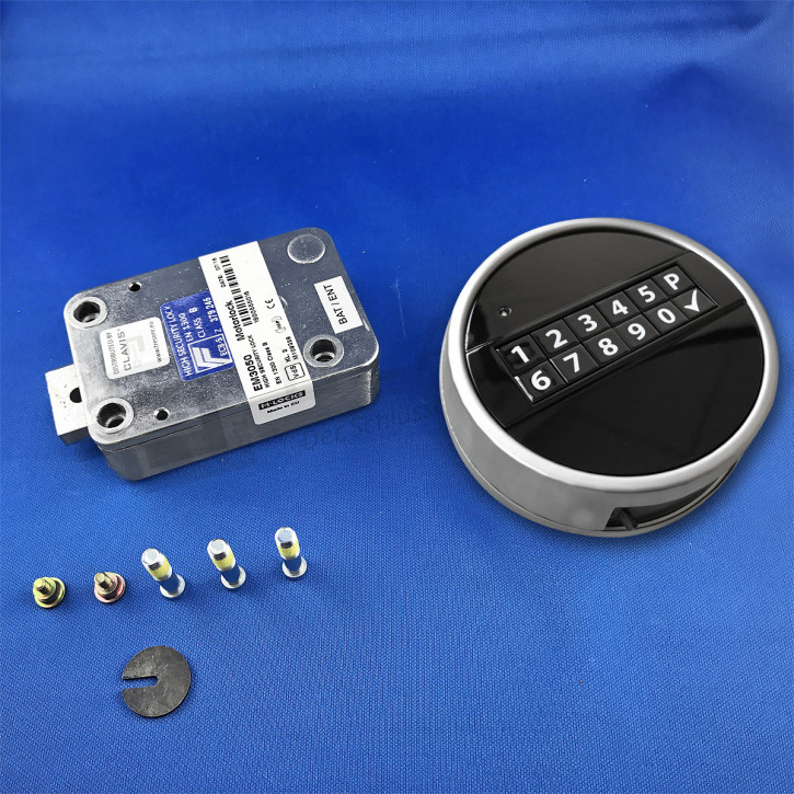 M-Locks Set8-3 Elektronikschloss MotorLock Motorschloss Tresorschloss EM3050 + Echo schwarz