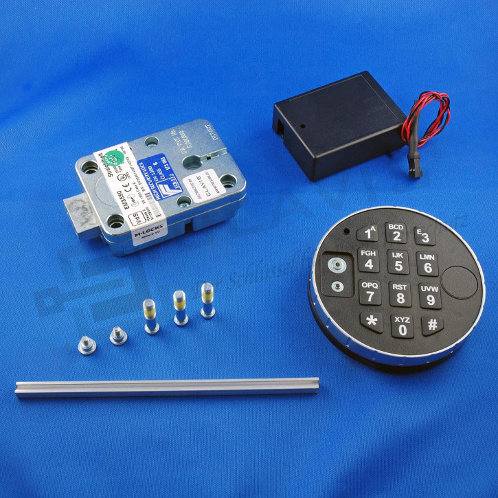 M-Locks Set4 Elektronikschloss Straightbolt Deadbolt Tresorschloss EM3550 + DE2010 + ST6070 Mlocks inkl. Dallas Leser