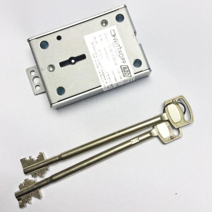 DB- Notschloss 1821 für Gator 3010 Carl Wittkopp 2x 150 mm Schlüssel Neusilber