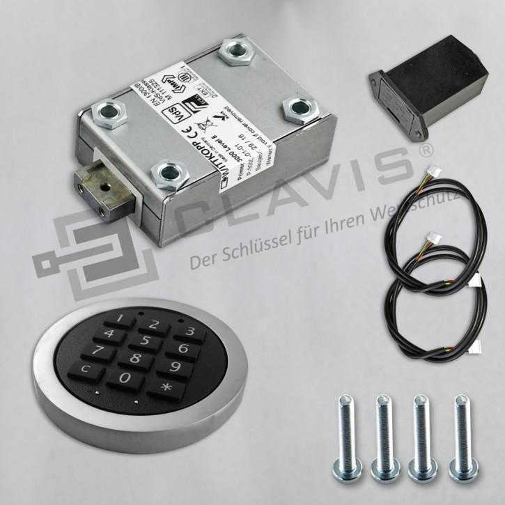 PRIMOR 3000 Level 5 Set Tastatur: FL silber matt Elektronikschloss EN 1300 B VdS II 2 Cawi Carl Wittkopp