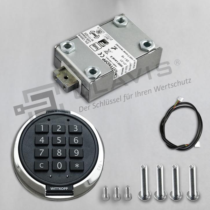 PRIMOR 3000 Level 5 Set Tastatur: FS silber chrom Elektronikschloss EN 1300 B VdS II 2 Cawi Carl Wittkopp