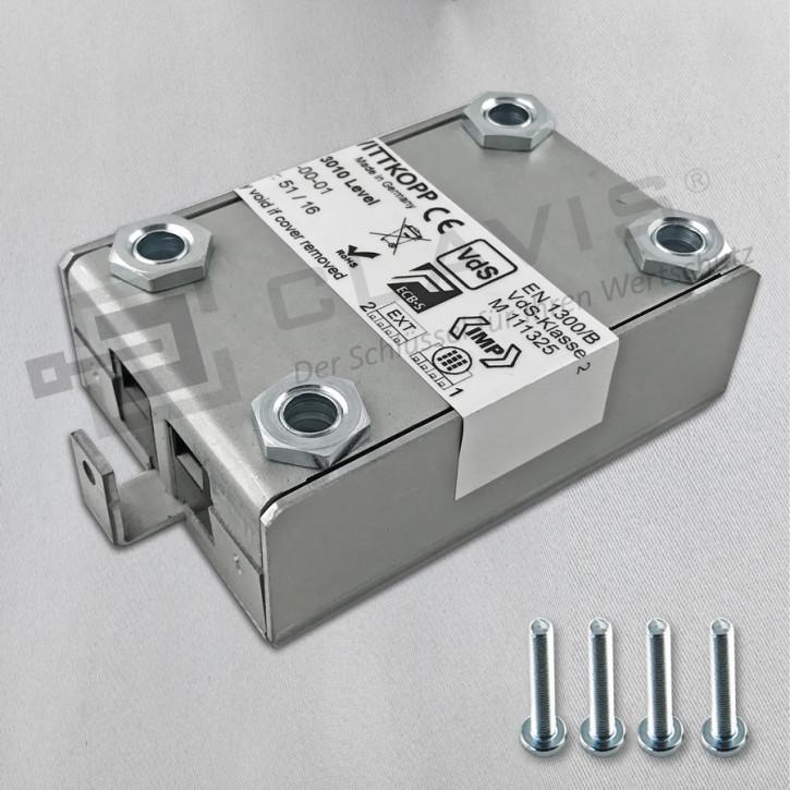 """PRIMOR 3010 Level 15 Motorschloss mit NOTSCHLOSS-ANBINDUNG """"kurz"""" Elektronikschloss EN 1300 B VdS II 2 Cawi Carl Wittkopp"""