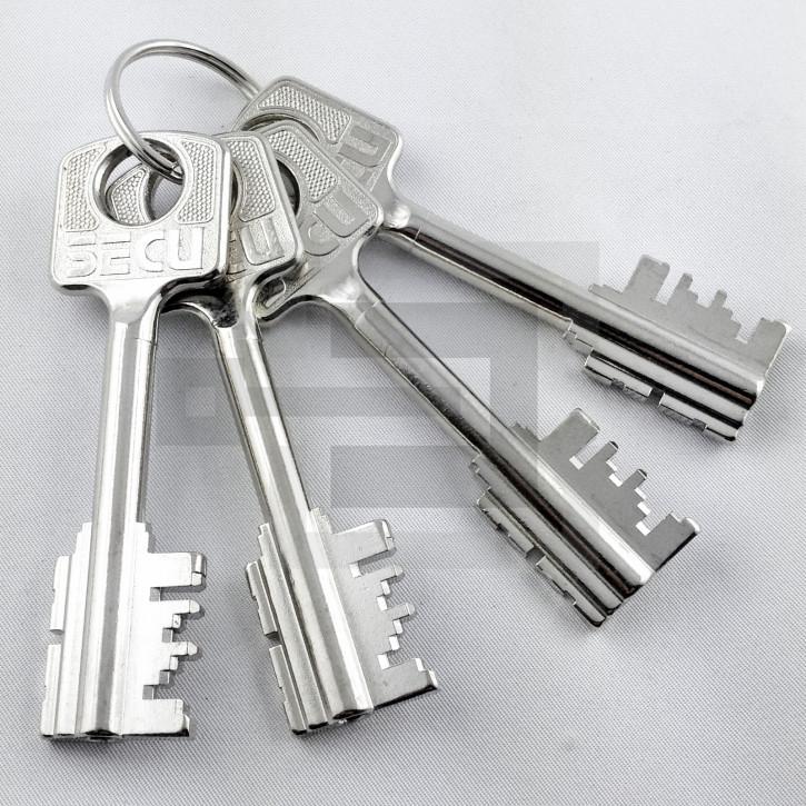 Set 4x Tresorschlüssel (klein) für umstellbares Tresorschloss SECU + Burgwächter