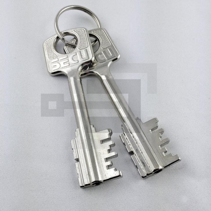 Set 2x Tresorschlüssel (klein) für umstellbares Tresorschloss SECU + Burgwächter