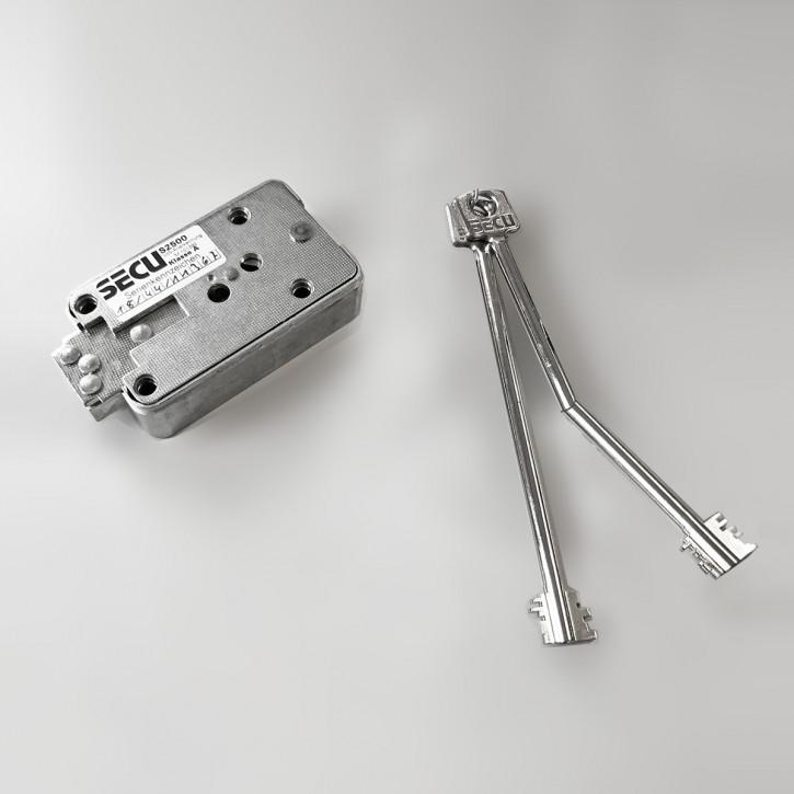 SECU S2500 - Serie S Doppelbartschloss inkl. 2 Schlüssel 155 mm, davon 1 x starr, 1 x Gelenkschlüssel