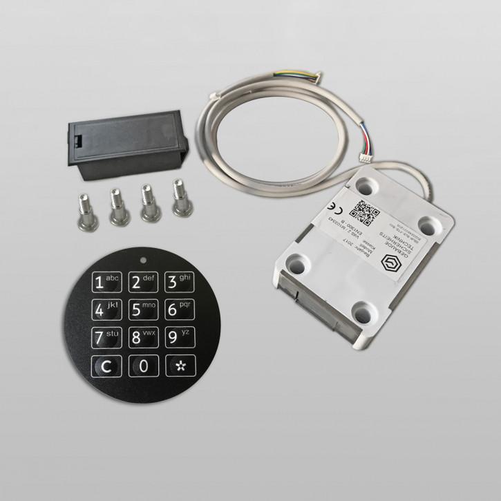 GST SOLAR Basic Elektronikschloss, Ersatz für DFS Schlösser / Basisfunktionen / 1 Benutzercode
