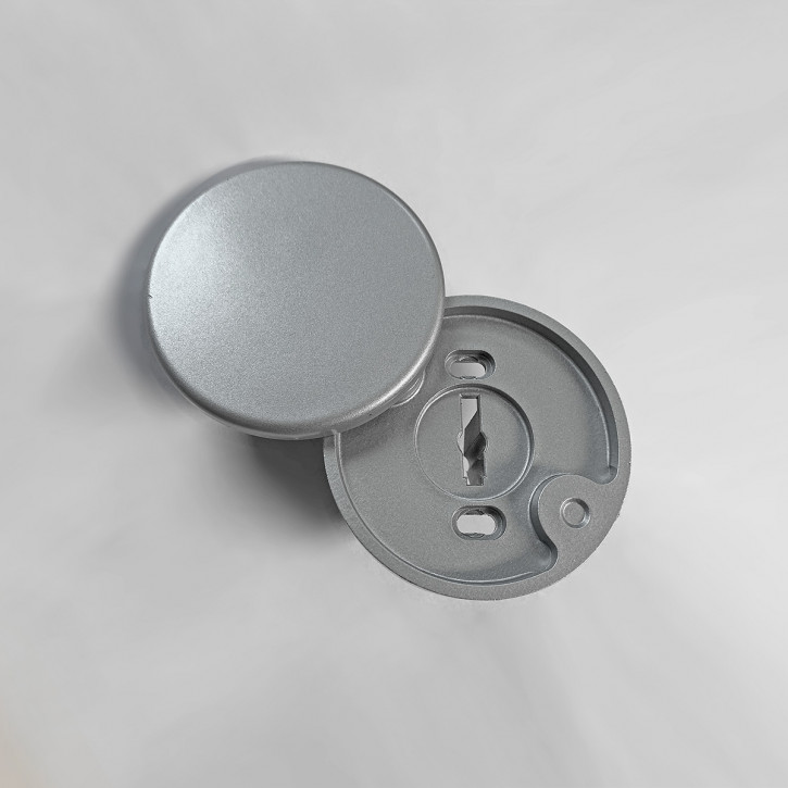 Wertheim Schlüssellochabdeckung, Schlüsselführung, Rosette mit Abdeckung