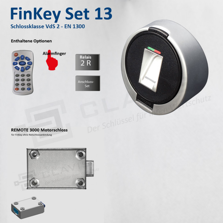 Carl Wittkopp FinKey Set 13 Fingerprint biometrisches Tresorschloss Fingerabdruck, Cawi