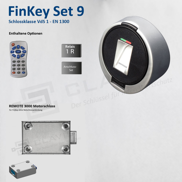 Carl Wittkopp FinKey Set 9 Fingerprint biometrisches Tresorschloss Fingerabdruck, Cawi