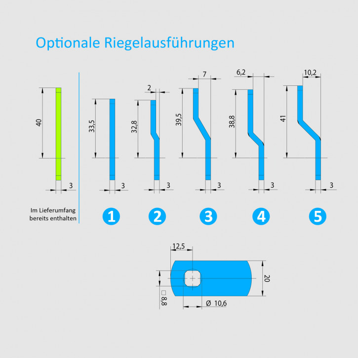 Carl Wittkopp SmartCam optionaler Riegel als Ersatzteil