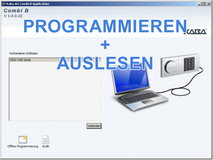 Kaba Mauer Combi B 30 PC Software (B30 Programmierung + Audit)