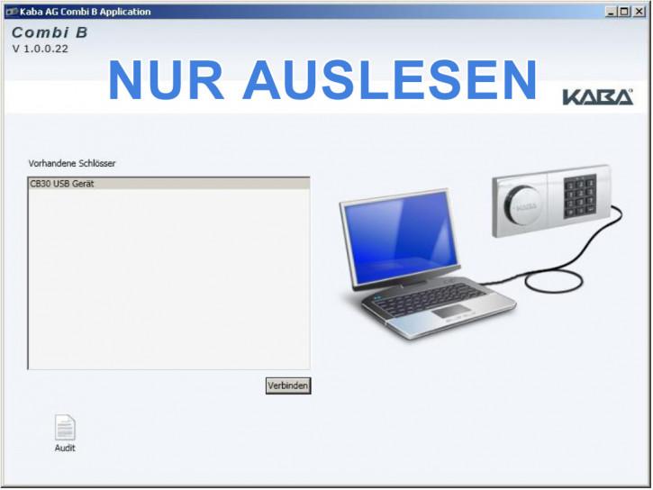Kaba Mauer Combi B 30 PC Software zum Auslesen des Schlosses (B30 Audit)