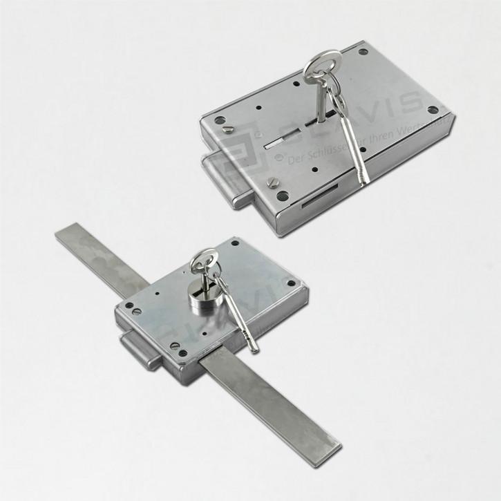 Cawi 1609 Innentresorschloss VdS I / 2x Schlüssel 72mm Messing