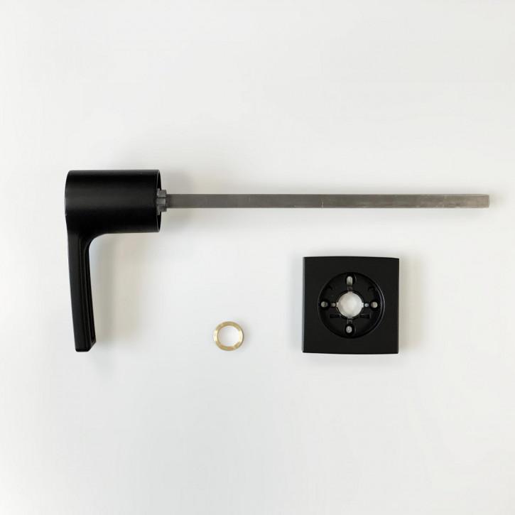 dormakaba Griff VESTA 90050 - Hängegriff passend zu Combi B30 82132 Kaba Mauer B 30, schwarz beschichtet/ 11mm Vierkant 260mm lang