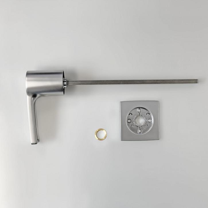 dormakaba Griff VESTA 90050 - Hängegriff passend zu Combi B30 82132 Kaba Mauer B 30, chrom matt / 8mm Vierkant 260mm lang
