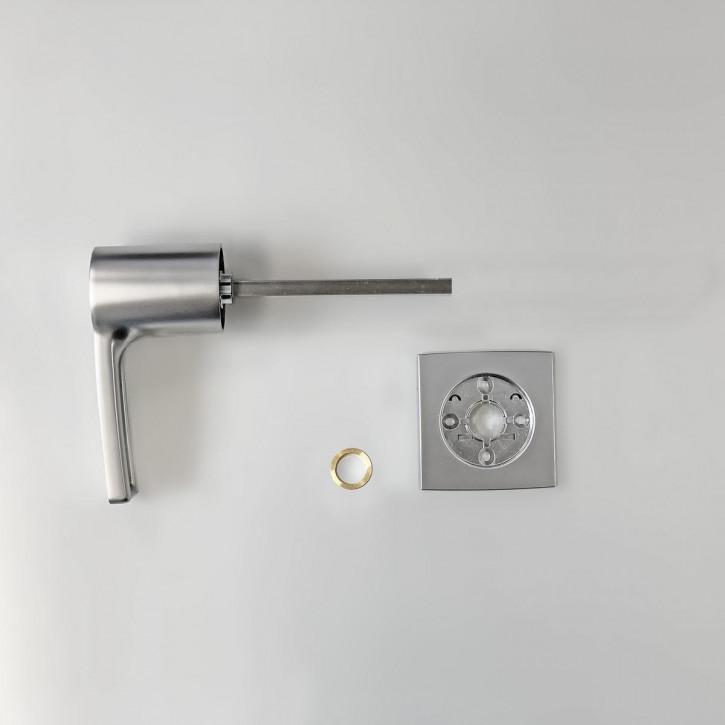 dormakaba Griff VESTA 90050 - Hängegriff passend zu Combi B30 82132 Kaba Mauer B 30, chrom matt / 8mm Vierkant 120mm lang