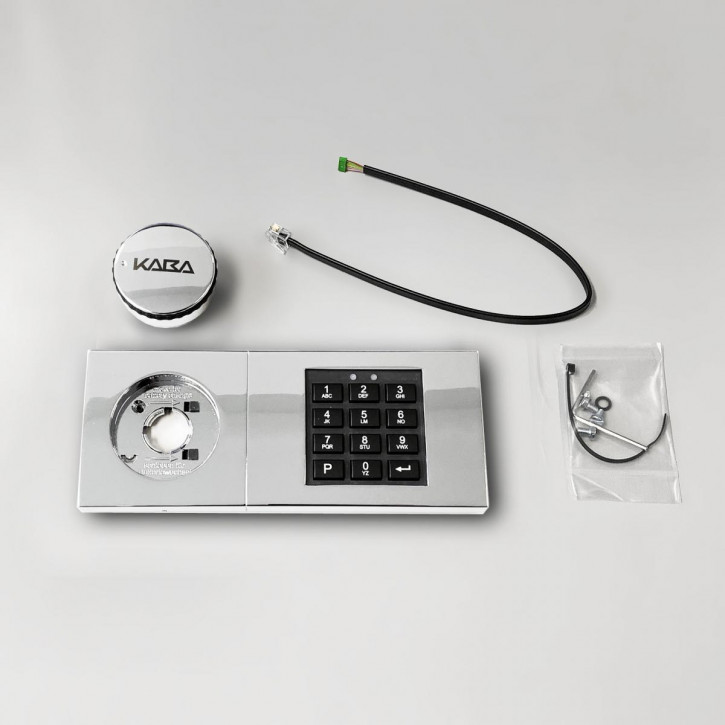 dormakaba Combi B30 Eingabeeinheit - 82132 Kaba Mauer B 30 Tastatur chrom, glänzend