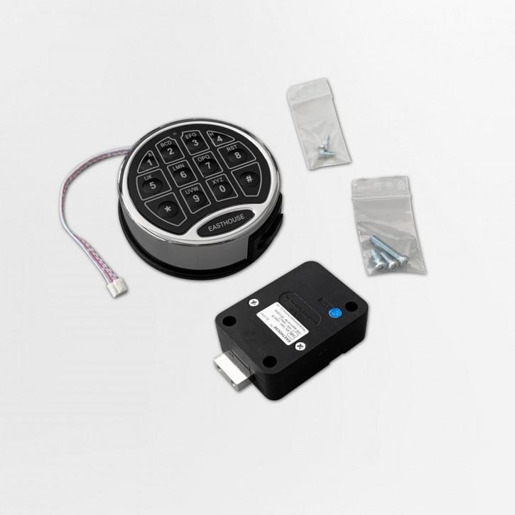 EASTHOUSE Set1 SafeLogic Motorschloss-Komplettset EL-0701-D Zeitverzögerung, Dual Mode, Reset Code EN 1300 B VdS II 2