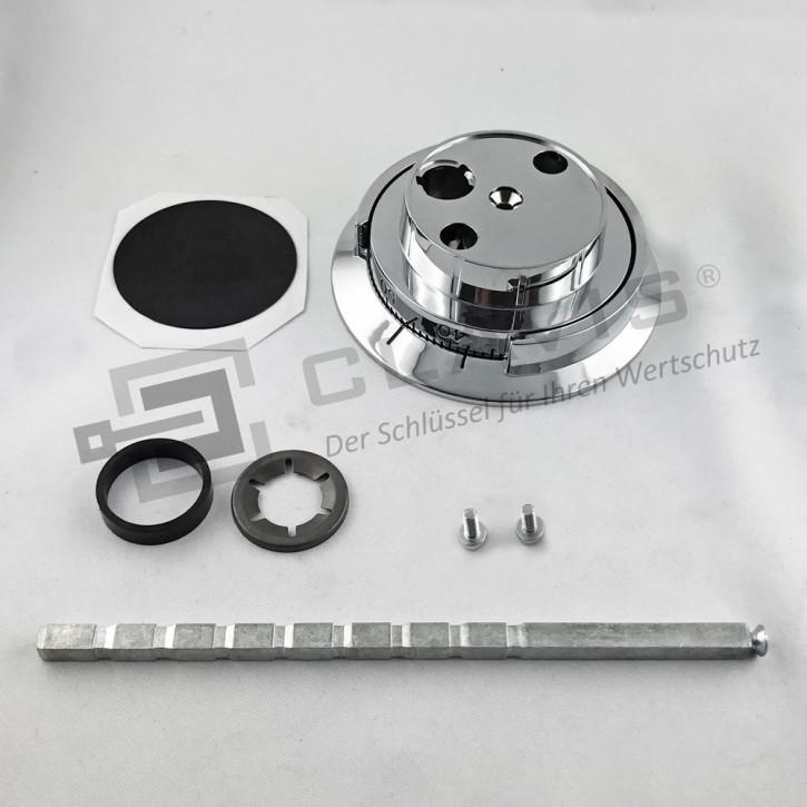 CAWI Drehknopf 7800-103-0 Zahlendrehknopf Metall, glanz verchromt