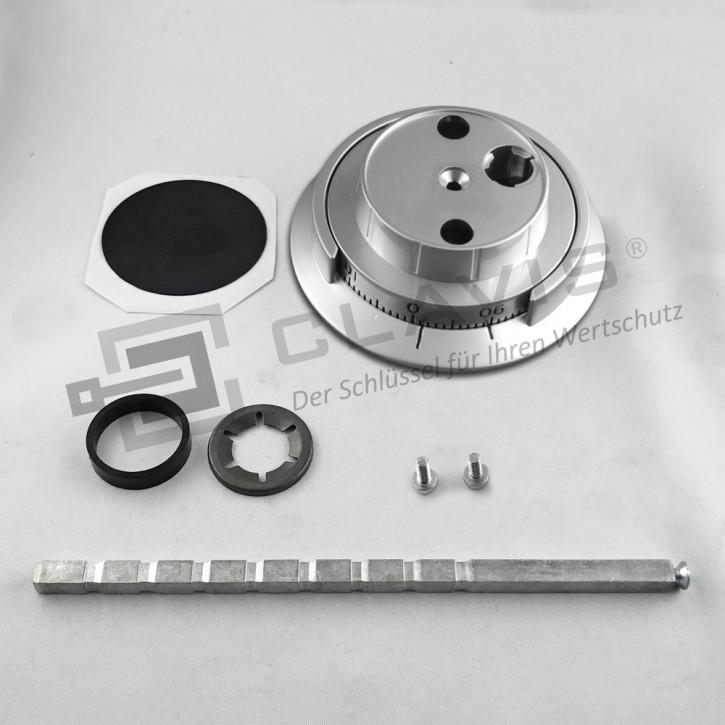 CAWI Drehknopf 7800-102-0 Zahlendrehknopf Metall, matt verchromt