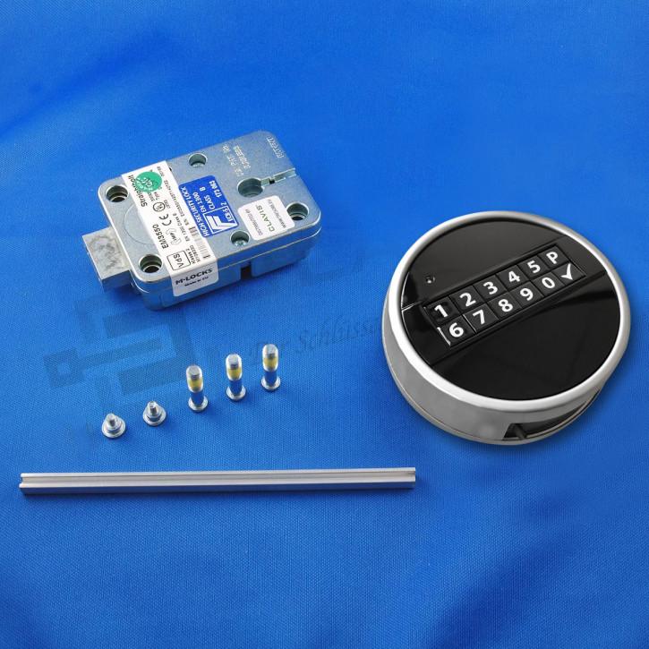 M-Locks Set9-3 Elektronikschloss Straightbolt Deadbolt Tresorschloss EM3550 + Echo schwarz Mlocks