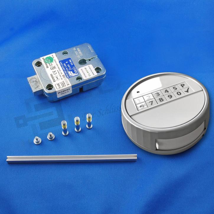 M-Locks Set9-2 Elektronikschloss Straightbolt Deadbolt Tresorschloss EM3550 + Echo weiss Mlocks