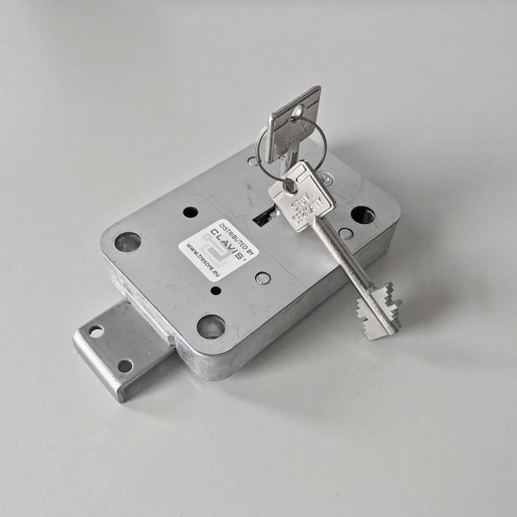 STUV 4.19.92 - CABLOX Tresorschloss VDS Klasse I (1), 60mm Schlüssel, gekröpfter Stahl Riegel