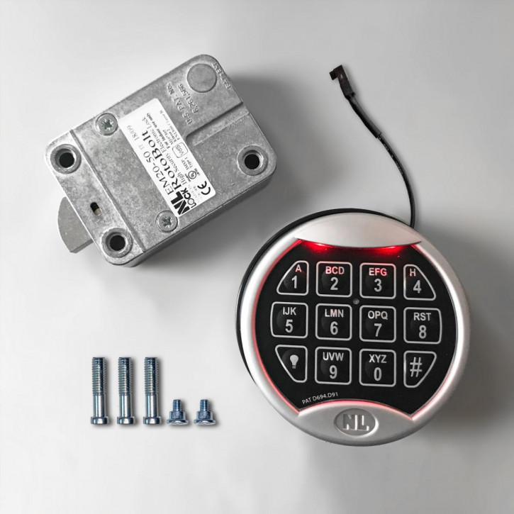 NL-LOCK Elektronikschloss Set RotoBolt Swingbolt VdS EN 1300 B Tresorschloss / EM2050 + PREMIER PI2060