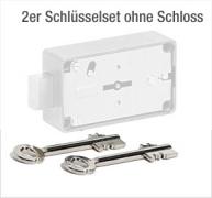 2x Kaba Mauer Vary Flex 73073 Tresorschlüssel im Set 70mm lang Messing für Tresorschloss