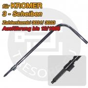 KROMER Umstellaktivator Stahl Umstellschlüssel für 3 Scheiben- Zahlenkombination 135mm Schlösser bis 12/1986