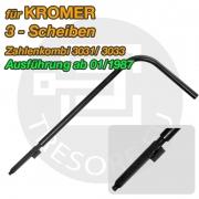 KROMER Umstellaktivator Stahl Umstellschlüssel für 3 Scheiben- Zahlenkombination 135mm Schlösser ab 01/1987
