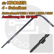 KROMER Umstellaktivator Stahl Umstellschlüssel für 4 Scheiben- Zahlenkombination 135mm Schlösser bis 12/1986