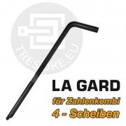 Umstellaktivator Stahl für La Gard 4 Scheiben - Zahlenkombination 90mm Umstellschlüssel