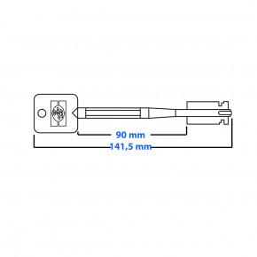 AKTION !!! 3x FAS Tresorschlüssel im Set 140mm lang für S&G Sargent & Greenleaf für 6860/6880/6890 Tresorschloss